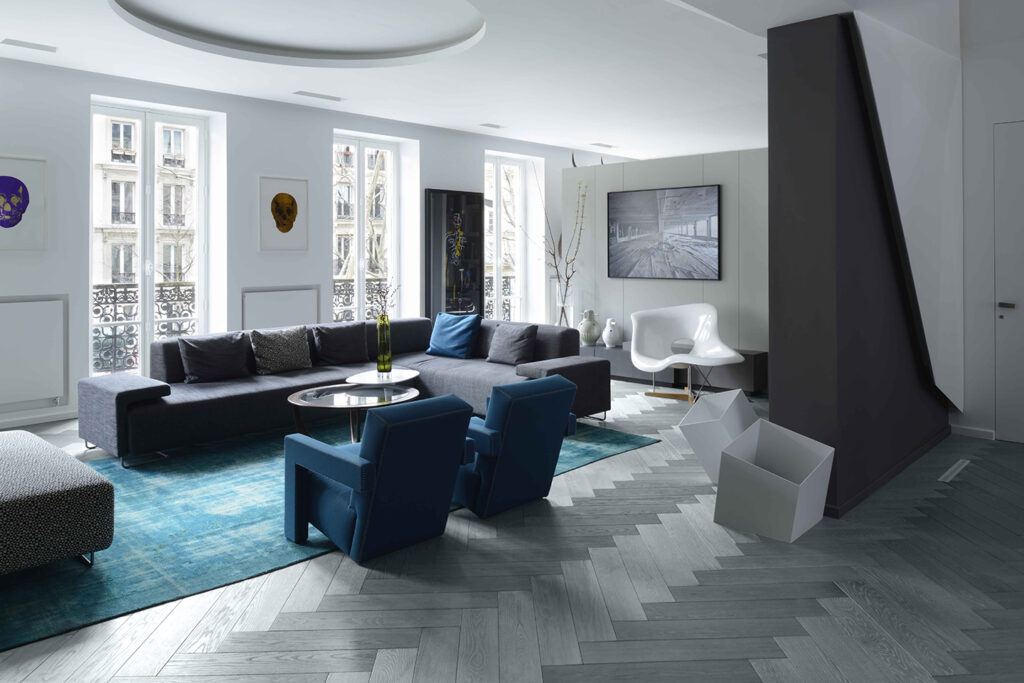 Oscarono Herringbone - Collection Classics - Finish Rocher Bleu-Gris - Project Frederic Chane - Paris