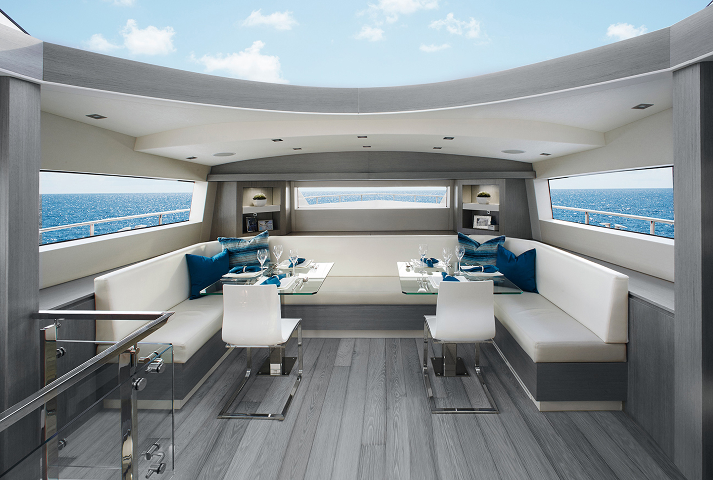 Oscarono Luxury - Collection Classics - Finish Rocher Bleu-Gris - Project Yacht Hatteras Miami